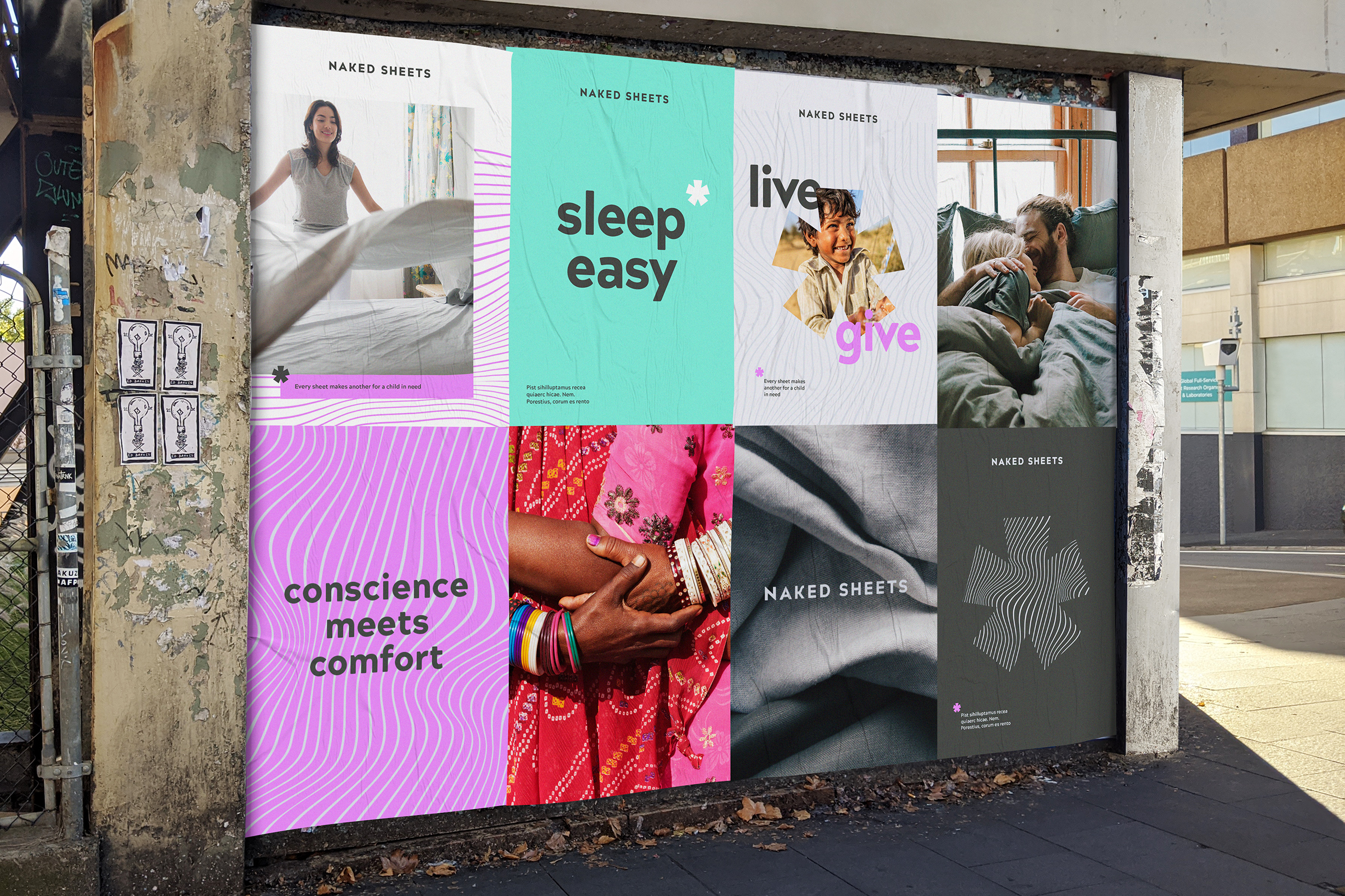 NAKED SHEETS Street Poster